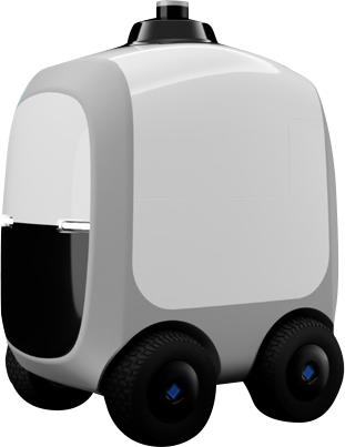 Render of Camello delivery robot
