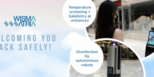 Wisma Atria uses OTSAW's OR-X disinfection robot